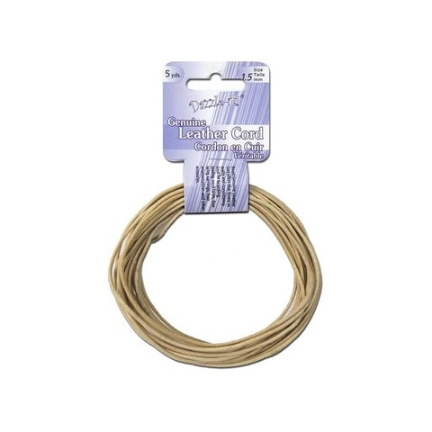 Dazzle It Leather Cord 1.5mm Rnd 5yd Natural