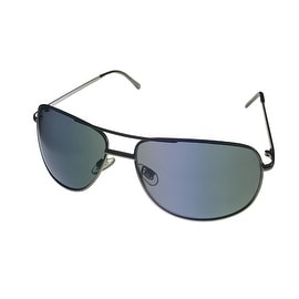 Perry Ellis Sunglass PE22 4 Mens Gunmetal ( Metal ) Aviator, Solid Green Lens