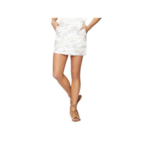 Sanctuary Womens Cargo Skirt Camoflauge Casual