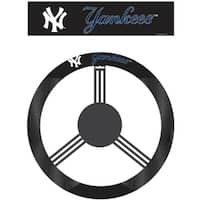 Fremont Die Inc New York Yankees Poly-Suede Steering Wheel Cover Wheel Cover