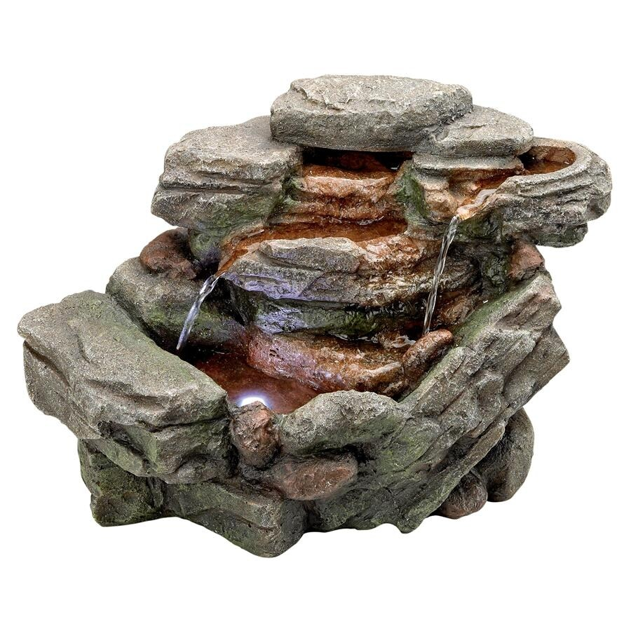 Design Toscano Waterfall Creek Cascading Tabletop Fountain