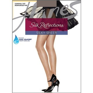 Hanes Silk Reflections Control Top Reinforced Toe Pantyhose - Size - CD - Color - Quicksilver