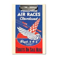 National Air Races - Cleveland 1938 - Vintage Ad (Acrylic Clipboard)
