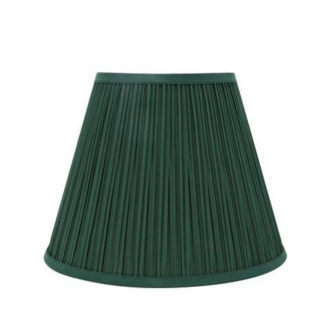 "Aspen Creative Pleated Empire Shaped Spider Construction Lamp Shade in Green (7"" x 13"" x 10"")"