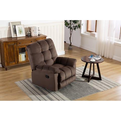 TiramisuBest Rocking Chair Recliner Fabric Manual Recliner Sofa