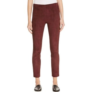 Vince Womens Pants Suede Stretch