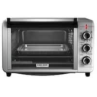 Black & Decker TO3210SSD Metal Toaster Oven Broiler, 6 Slice