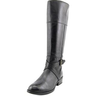 Lauren Ralph Lauren Mariah Wide Calf Women Leather Black Knee High Boot
