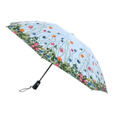 Totes Women's Flower Garden Print Auto Open and Close Inbrella - one size