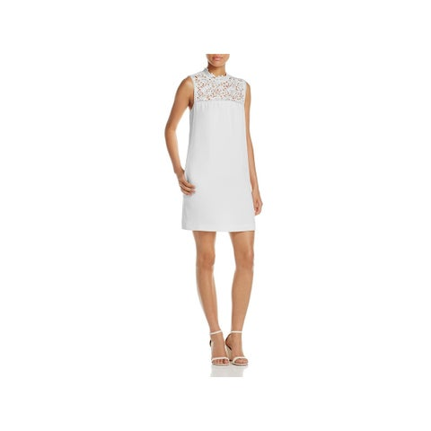 Theory Womens Aronella Party Dress Lace Crepe