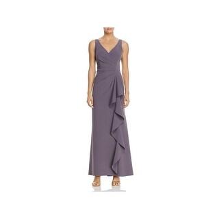 Aidan by Aidan Mattox Womens Evening Dress Ruffled Pleated