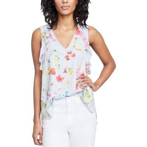 Rachel Rachel Roy Womens Blouse Spring Floral Print