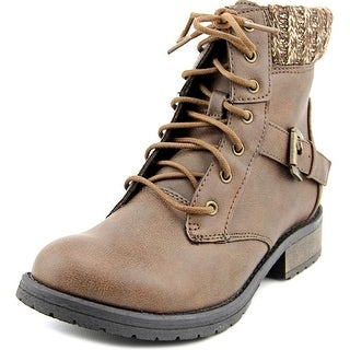 Steve Madden J Buckles Round Toe Canvas Ankle Boot