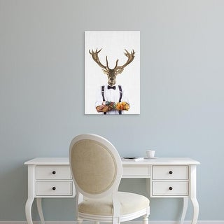 Easy Art Prints Tai Prints's 'Deer Man' Premium Canvas Art