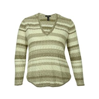 Style & Co Women's Striped Marled V-Neck Sweater (4 options available)