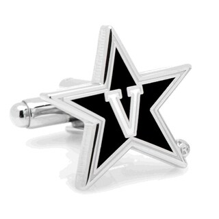 Licensed Vanderbilt Commodores Star Logo Cufflinks - Black
