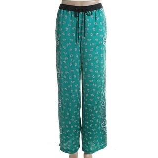 MICHAEL Michael Kors Womens Satin Printed Lounge Pants