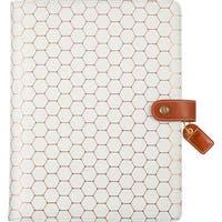 "Copper Hexagon - Color Crush A5 Faux Leather Composition Planner 7.5""X10"""