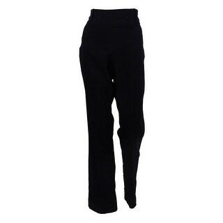 Style & Co Women's Pull-On Bootcut Pants (M, Deep Black) - Deep Black - M