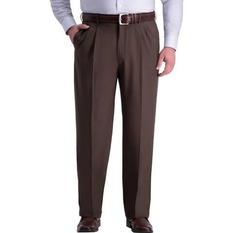 Haggar Mens Big & Tall Dress Pants Classic Fit Wrinkle Free