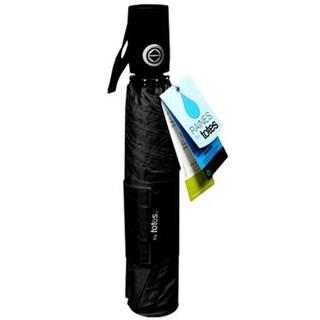 Totes Rain Auto Open/Close Black Umbrella with Rubber Handle Large Coverage