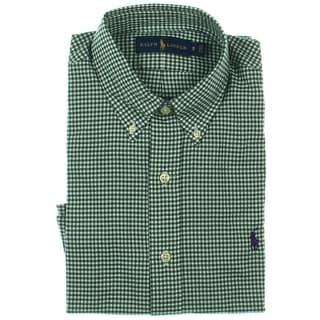Polo Ralph Lauren Mens Twill Checkered Button-Down Shirt - S