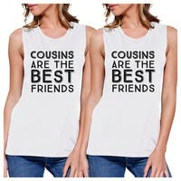 Cousins Best Friends Cute Family Matching Muscle Tops For Cousins