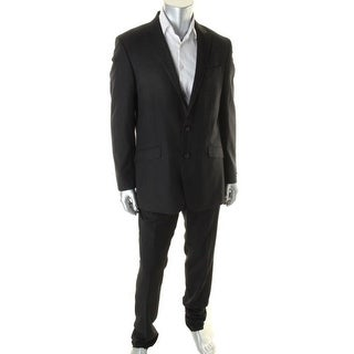 Unlisted Kenneth Cole Mens Pinstripe Notch Collar Two-Button Suit