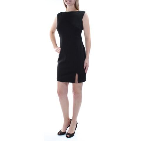 Womens Black Sleeveless Mini Body Con Casual Dress Size: 10
