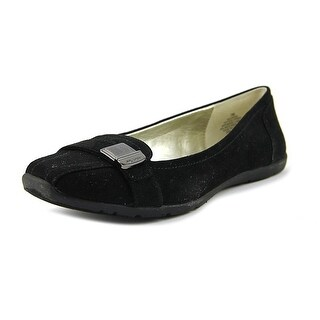 Anne Klein Sport Lavon Women  Round Toe Canvas Black Flats