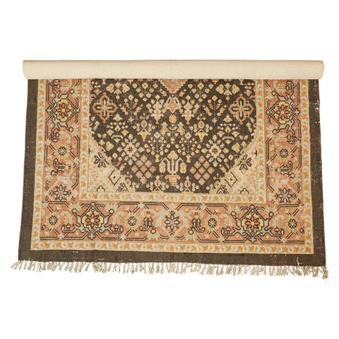 5' x 8' Woven Cotton Printed Rug - 5' x 8'