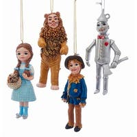 Kurt Adler Wizard of Oz Ornaments Dorothy Tinman Lion Scarecrow Set of 4