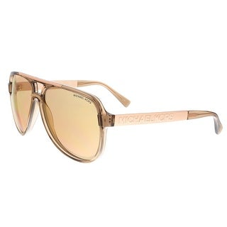 Michael Kors MK6025 3092R1 CLEMENTINE II Beige Transparent Aviator Sunglasses - beige transparent - 60-13-140