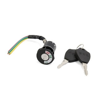 Unique BargainsPlastic Shell Safety Power Supply Ignition Switch Lock w 2 Keys for Motorcycle
