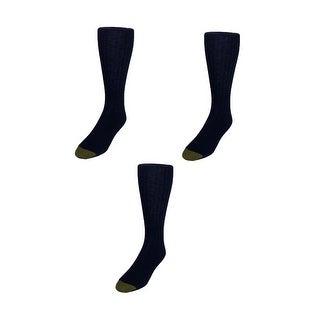 Gold Toe Men's Edinburgh Merino Wool AquaFX Dress Socks (Pack of 3) - One Size