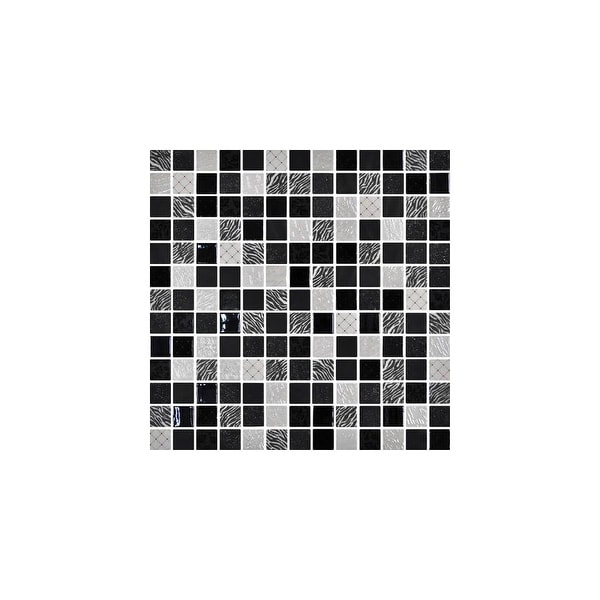 """Daltile UP11MSP Uptown Glass - 1"""" x 1"""" Square Mosaic Wall Tile - Smooth Glass Visual"""
