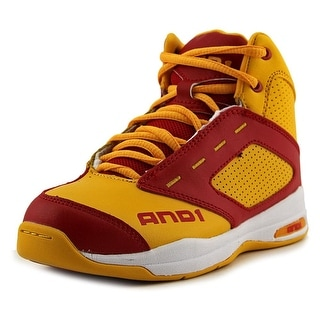 And1 Typhoon Round Toe Leather Basketball Shoe