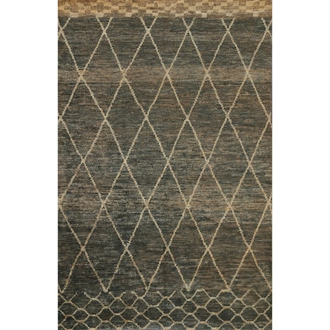 """Trellis Moroccan Oriental Contemporary Area Rug Hand-knotted Carpet - 6'0"""" x 8'10"""""""