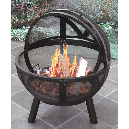 Landmann USA 28925 Ball of Fire Outdoor Fireplace - Black