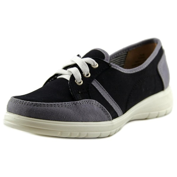 Beacon Sporty Lace Up Women Round Toe Canvas Sneakers