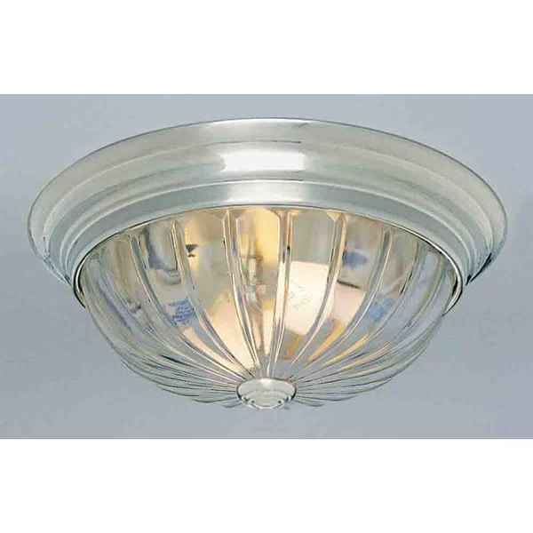"Volume Lighting V7810 1 Light 11"" Flush Mount Ceiling Fixture with Clear Melon R"