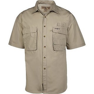 Hook & Tackle Mens Gulfstream S/S, White, L