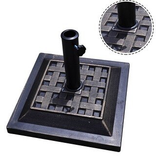 Costway 17.5'' Umbrella Base Stand Market Patio Standing Outdoor Living Heavy Duty (Square)