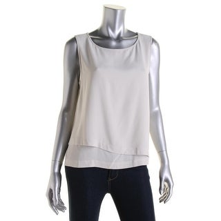 Eileen Fisher Womens Silk Tiered Blouse - S