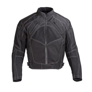 Men Motorcycle Four Season Textile Race Jacket CE Protection Black MBJ060