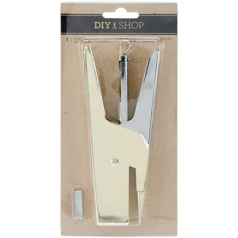 Diy Shop 3 Heavy Duty Mini Stapler W/100 Staples-Gold