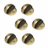 6 Brass Door Stop Dome Floor Mount Bumper | Renovator's Supply