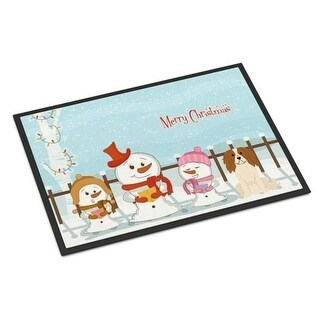 Carolines Treasures BB2389JMAT Merry Christmas Carolers Cavalier Spaniel Indoor or Outdoor Mat 24 x 0.25 x 36 in.