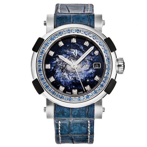Romain Jerome Women's 1S39A.TTTR.6000.AR.1111.STB19 'Arraw Star Twist' Blue Spiral Galaxy Dial Spinning Bezel Titanium Watch