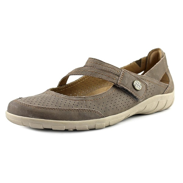 Earth Origins Remy Women W Round Toe Suede Tan Mary Janes